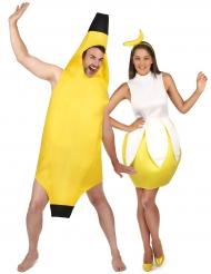 Disfraz de pareja plátano adulto