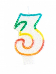 Vela de cumpleaños cifra 3