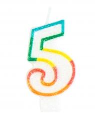 Vela de cumpleaños número 5 7.5 cm