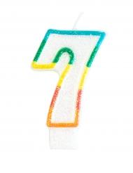 Vela de cumpleaños cifra 7
