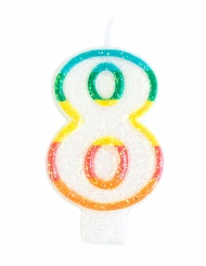 Vela de cumpleaños número 8 7.5 cm