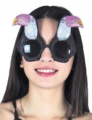 Gafas tucan con brillantina adulto