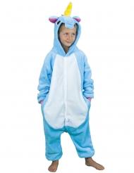Disfraz mono unicornio azul infantil