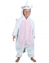 Disfraz mono unicornio blanco niña