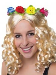 Corona de flores hawaiana adulto