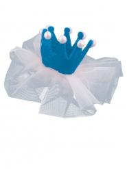 Mini horquilla pricesa azul 13 x 5 cm