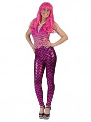 Legging sirena rosa mujer