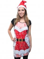 Delantal humorístico y sexy Noel