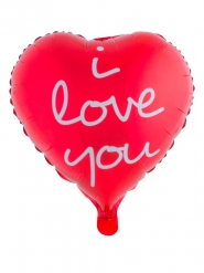 Globo de aluminio corazón rojo I love you 52 x 46 cm