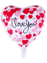 Globo de aluminio corazón I love you 52 x 46 cm