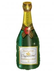 Globo aluminio botella de champaña 50x 100 cm