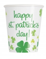 8 Vasos Happy St Patrick Day 25 cl