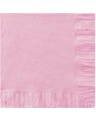 50 Servilletas de papel rosa claro 33 x 33 cm