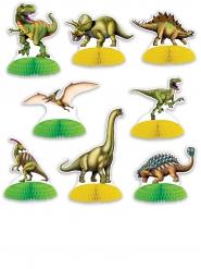 8 Mini centros de mesa dinosaurios