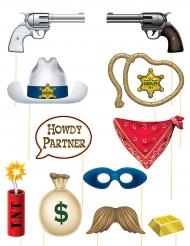 Kit photocall tema Western 12 accesorios