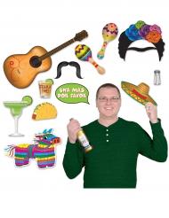 Kit photocall tema México 13 accesorios