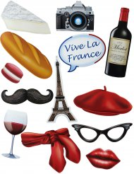 Kit photocall tema Francia 13 accesorios