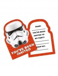 6 Tarjetas de invitación Stormtrooper™