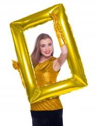 Globo cuadro dorado