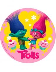 Disco ácimo cumpleaños Trolls™ 20 cm