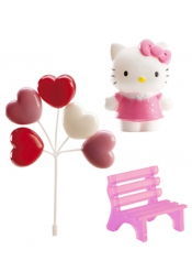 Kit de decoración para torta Hello Kitty™ 6.5 cm