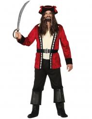 Disfraz capitán pirata calavera hombre
