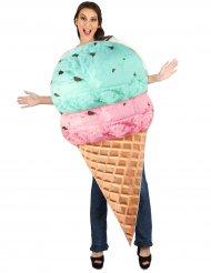 Disfraz helado en cucurucho adulto