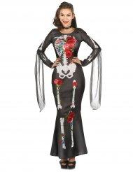 Disfraz vestido esqueleto mujer Día de los muertos