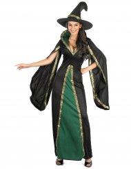 Disfraz hechicera negra terciopelo mujer