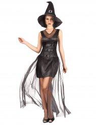 Disfraz bruja negro chic mujer