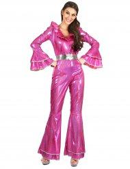 Disfraz disco rosa para mujer