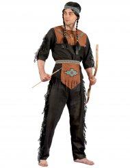 Disfraz indio para hombre negro y marrón