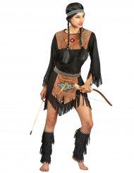 Disfraz india mujer negro