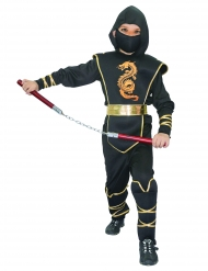 Disfraz ninja para niño negroy amarillo