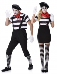 Disfraz de pareja adulto mimo duo