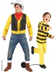 Disfraz pareja Lucky Luke™ y Dalton padre e hijo