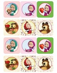 12 Decoraciones de azúcar para galletas Masha y el oso™