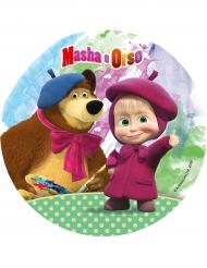 Disco de ácimo Masha y el Oso™ 21 cm