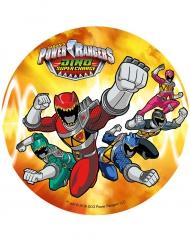 Disco naranja ácimo Power Rangers™ 21 cm