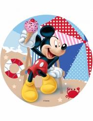 Disco ácimo Mickey™ Mickey en la playa 21 cm