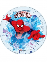 Disco blanco ácimo Ultimate Spiderman™ 21 cm