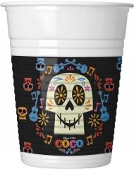 8 Vasos de plástico multicolores Coco™ 20 cl