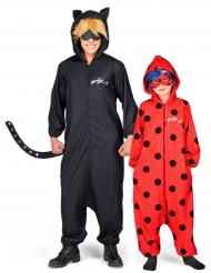 Disfraz pareja Ladybug y Chat noir Miraculous™padre e hija