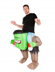 Disfraz monstruo verde inflable adulto