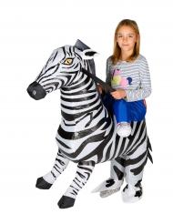 Disfraz cebra inflable niño
