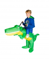 Disfraz cocodrilo inflable niño