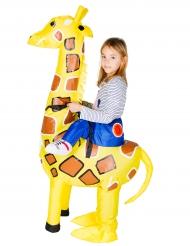 Disfraz girafa inflable niño