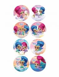 16 Mini discos de azúcar Shimmer & Shine™ 3,4 cm