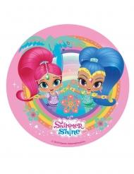 Disco ácimo Shimmer & Shine™ rosa 20 cm