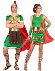 Disfraz pareja soldados romanos adultos